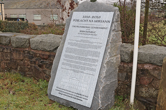 DUP Councillor Garth Craig is complaining about the erection of a republican monument in Leitrim.