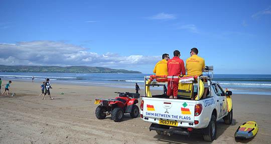 RNLI lifeguards receive rigorous training.