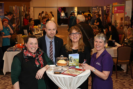 Pictured at Tourism NI's Great Days Out Fair in the Slieve Donard Hotel are Sarah Sharp, National Trust (Castleward); Andy Patterson, Tourism NI; Linda McKenna, Down County Museum; Patricia McKenny, Mournes and Ring of Gullion.