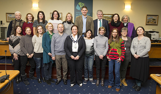 Councillor Gillian Fitzpatrick, Chairperson of Newry Mourne and Down District Council, hosted a meeting of Erasmus teachers in Ballyholland.