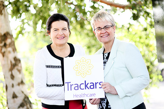 Patricia Casement, Managing Director of Trackars Healthcare, [ictured with South Down MP Margaret Ritchie.