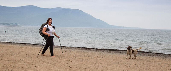 Newry Mourne and Down District Council Chair launches the Mourne International Walking Festival with a walk along the Mourne coastline.