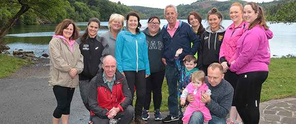 Staff and friends of Health care company Trackars enjoyed a charity walk round Castlewellan Lake for the Cancer Fund For Children.