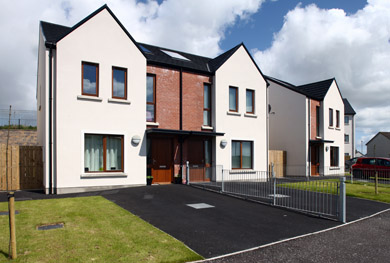 The new social housing scheme at Ardilea in the Flying Horse in Downpatrick has won an award.