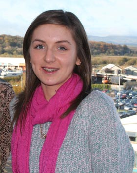 Downpatrick student Kate Tumelty studying Travel and Tourism at SERC completed a one week Director Shadowing Scheme at the George Best Belfast City Airport.