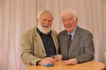 Michael Longley and Seamus Heaney at the Lyric Theatre in Belfast. (Photo by John Harrison/Harrison Photography).