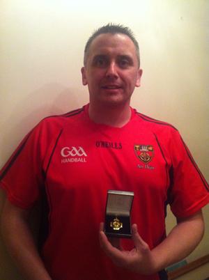 RGU handballer Tom Savage has won an Ulster title.