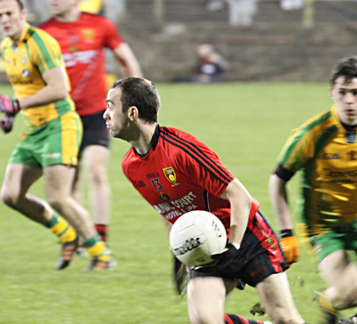arge against the Donegal defence.