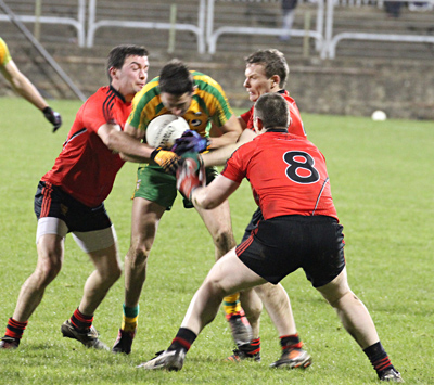Down struggled in the second half to keep Donegal at bay.
