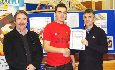 Mark Hawthorne took top place in carpentry back in February 2013