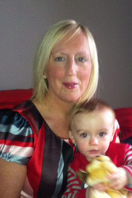 Anne Marie Smyth with her 14-month old son Sam