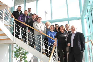 eBay consultant Michael Hughes and Joan Tummon, #YouCan Co-ordinator at Down Business Centre, pictured with participants of the programme.