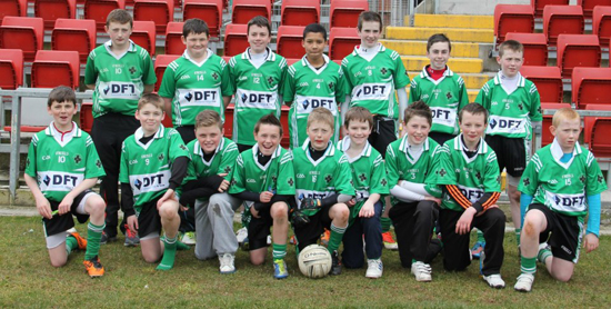 The Fin U-14 footballers who played in the Feile in Newry.