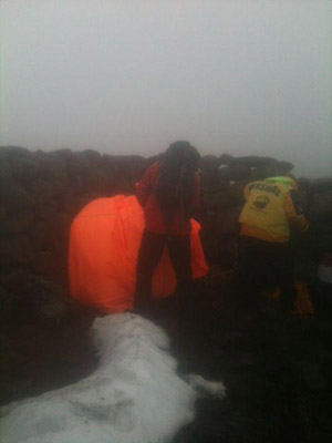 A runner is rescue after suffering from exhaustion and exposure in the Mournes.