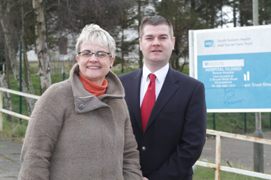 South Down MP Margaret Ritchie accompanied by Councillor Colin McGrath have welcomed the pending public sale of the old Downe Hospital site in Downpatrick.