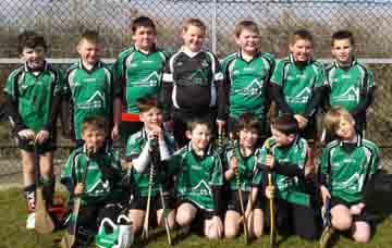 The Under-10 hurlers at Clonduff.