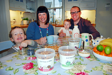 Jill and David Crawford enjoy a breakfast with their luxury granolas. They have just secured a contract with Amazon UK.