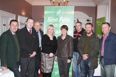 At the Hilltown meeting were DARD Minister Michele O'Neill with South Down Sinn Féin MLA's and Councillors.