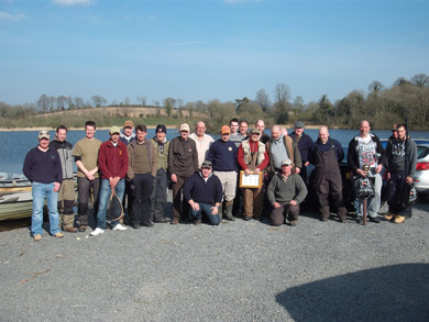 Some of the competitors who attended the Teggart Memorial Competition at Islandderry Fishery in Aid of Cystic Fibrosis