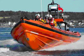 Portaferry Lifeboat was called out to rescue an injured wind surfer on Strangford Lough.