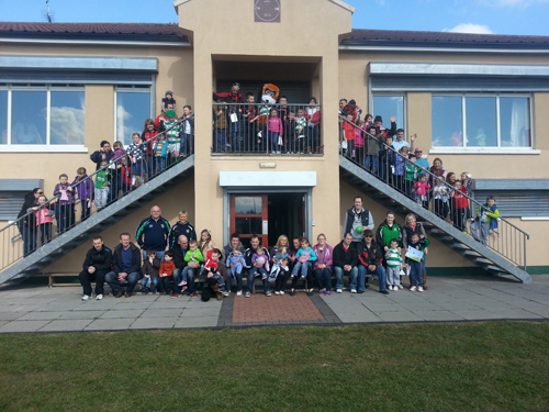 The RGU Under-6's at the end of XXXX ready for their Easter Egg Hunt.
