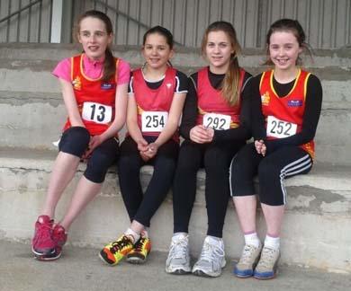 The 4x100 team - Laura Gardiner, Emily Forte, Emma Smyth and Eimear  Connor.