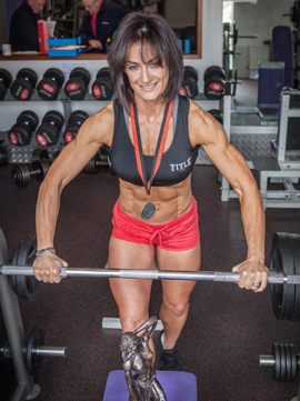 Gillian Bradley won the trained figure ctaegory in the Northern Ireland body building championships.