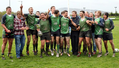 The Hinch 3's who lifted the     Cup.