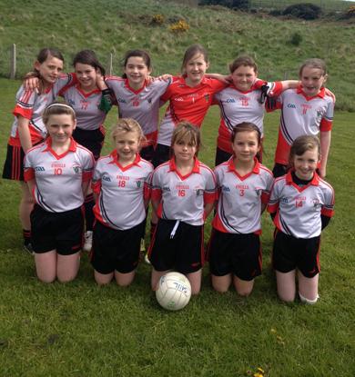 The St Patrick's PS girl's team winners.
