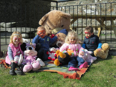 Local children in Portaferry enjoying the teddy bear picnic.