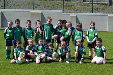 The Castlewellan U-8 team at the Drumaness blitz.