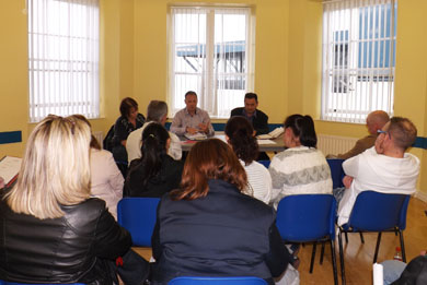 Burren Meadow residents get together to from a forum to address any pressing issues on their new estate.