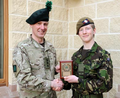 Cadet Justin Lavery from Ballygowan.
