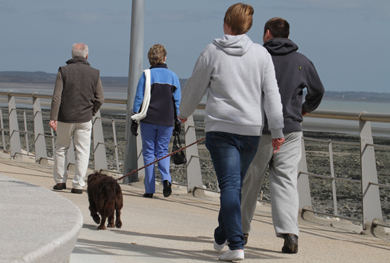 Dogs must be on leads in Newcastle promenade.