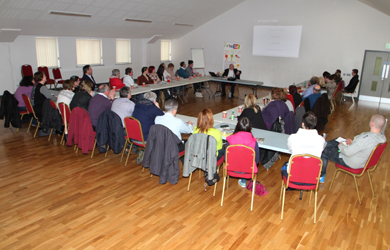 Recent participants on a Neighbourhood Renewal Programme  run through '# You Can' enjoying an eBay seminar presented by Michael Hughes of Michael Hughes Consulting at  Ballymote Centre organised by the Down Business Centre.