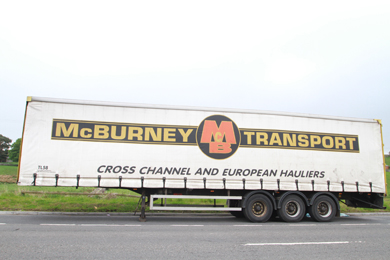 The abandoned curtain sider lorry on the Dublin Road near Castlewellan with a load of toxic fuel waste on board.