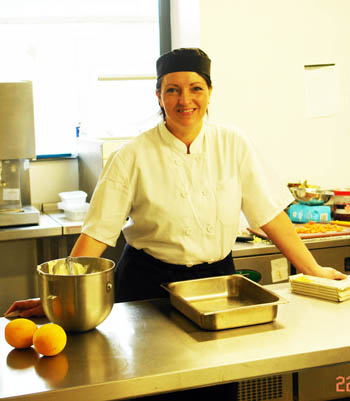 Annette Grant retrains to be a chef.