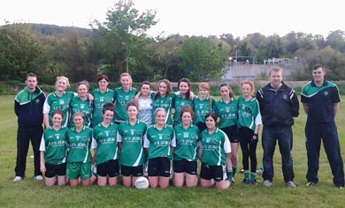 The Aughlisnafin ladies squad.