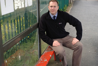 South Down MLA Chris Hazzard has called for an end to anti-social behaviour in Drumaness after a bus shelter was damaged.