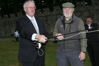Illtyd Griffiths, AAPGAI instructor pictured with Strangford MP Jim Shannon MLA, a country sports enthusiast and who has officially opened the fair in previous years.
