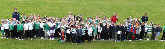 Over 100 pulils from three Downpatrick primary schools took part in an RGU blitz.