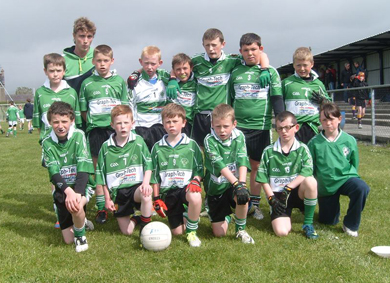The U12s who reached the Shield Semi-Final at An Riocht.