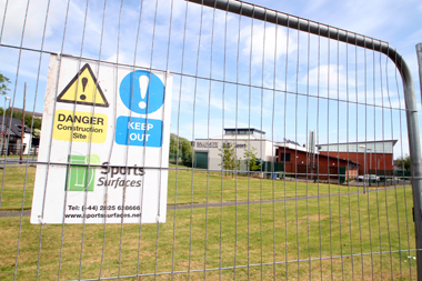 A fence has been erected around the site of the new playpark to be completed by September 2013