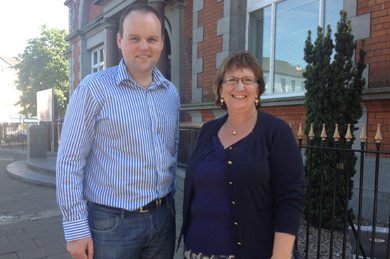 Newry and Mourne SDLP Councillor  with party deputy leader Delores Kelly MLA.