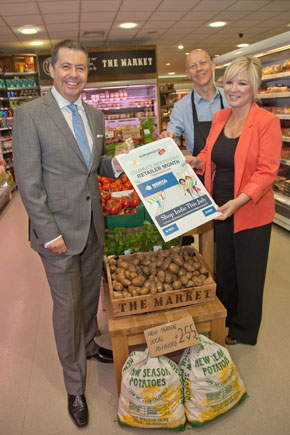NIIRTA CEO Glyn Roberts and President Paul Stewart with DARD MInister Michele O'Neill launch Independence Week.