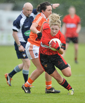 Orla Boyle in action against Armagh.