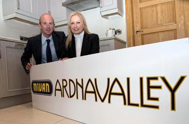 Joan Cunningham, Saintfield Horse Show organiser with Lee , Mivan Chief Executive