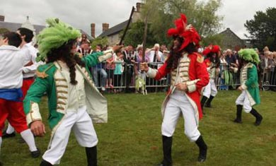The Sham fight at Scarva draws a huge crowd annually just after the Twelfth celebrations. .