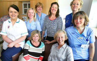 Pictured:  (Back Row):  Lauren  Curran (Midwifery Student), Nuala o Connor (Midwife), Karen Betts (Midwife), Breedagh Hughes (Director, RCM Northern Ireland) Aine Maginn (Sister).  (Front Row):  Eileen McEneaney (Asst. Director Woman & Acute Child Health), Cathy Warwick (Chief Executive RCM) &  Briege Halleron (Midwife)