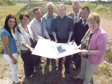 Sinn Féin South Down representatives pictured with Ballymartin GAC members welcoming the news of funding to the club.